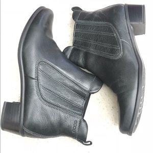 Ecco Leather Black Ankle Boots Size 41/10